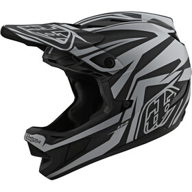 Troy Lee Designs D4 Composite MIPS Mirage Casque, black/silver